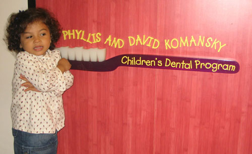 Isabela a the children's dental program: